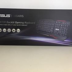 Tastatura Gaming ASUS ROG, Cu fir, USB, Tastatura iluminata