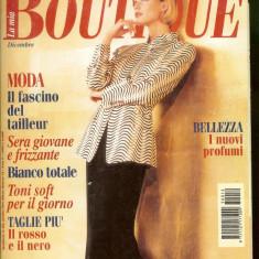 Revista moda BOUTIQUE - decembrie 1995, completa, cu insert