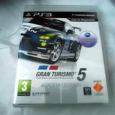 Joc Gran Turismo 5 Academy Edition, PS3, original, alte sute de jocuri! - Jocuri PS3 Codemasters, Curse auto-moto, 3+, Single player
