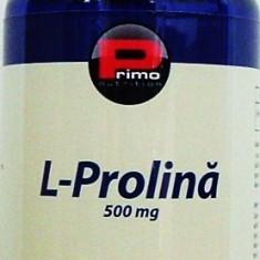 L prolina, 500 mg, 120 caps, articulatii, ateroscleroza, masa musculara - Aminoacizi