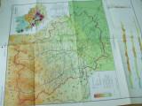 Prahova geografica si economica harta color anii 1970 Romania petrol industrie
