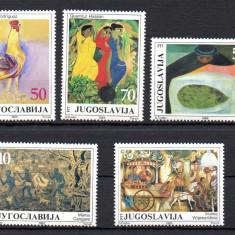 JUGOSLAVIA 1985, Arta, Pictura, serie neuzata, MNH, Iugoslavia, Nestampilat