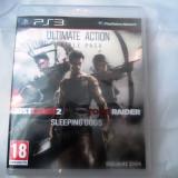 Ultimate Action, Just Cause 2 + Sleeping Dogs + Tomb Raider, PS3, original - GTA 5 PS3 Rockstar Games