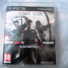 Ultimate Action, Just Cause 2 + Sleeping Dogs + Tomb Raider, PS3, original - GTA 5 PS3 Rockstar Games
