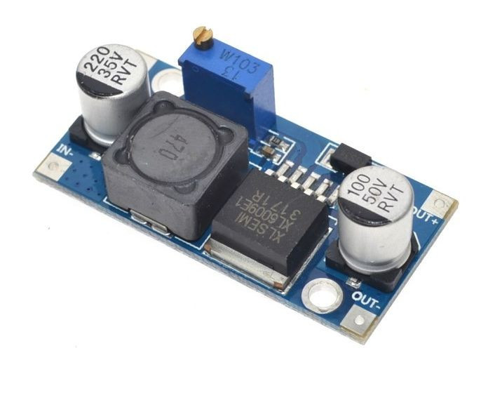 DC-DC converter step-up, IN:3.2-32V, OUT:4-38V (4A) XL6009 ( 470 ) foto mare