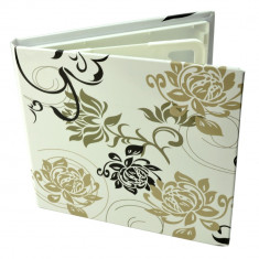 Carcasa 4 CD DVD model white&black, design floral