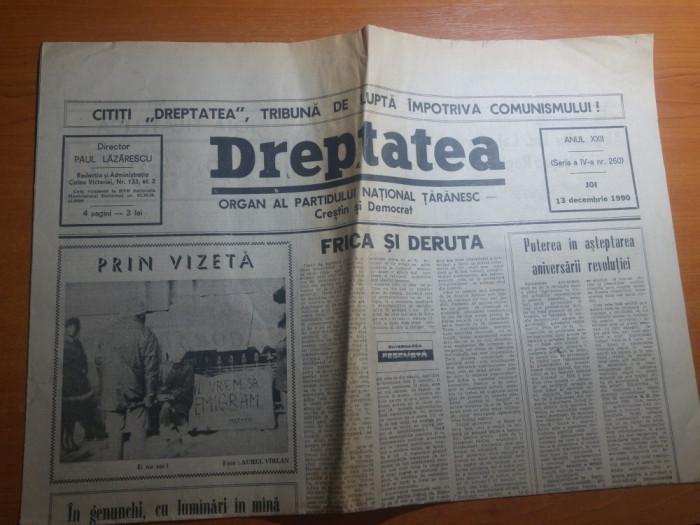 ziarul dreptatea 13 decembrie 1990--art. despre revolutie si despre iuliu maniu foto mare