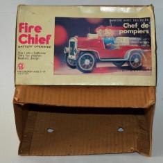 Cutie pentru jucarie veche de colectie Fire Chief - ME 699