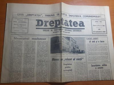 "ziarul dreptatea 20 septembrie 1990-articolul "" politica prin diversiune "" foto"
