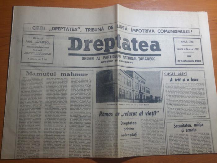 """ziarul dreptatea 20 septembrie 1990-articolul """" politica prin diversiune """" foto mare"""