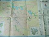 Bucuresti oficiul national de turism ONT Carpati harta color turistica