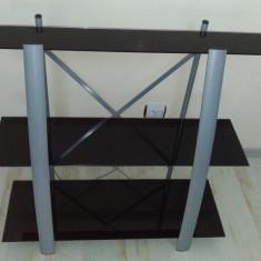 Mobila Suport Polita Raft Sticla pentru Boxe DVD Console Televizor Vitrina stand - Raft/Etajera