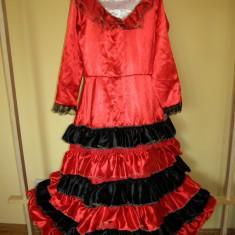 Costum carnaval serbare rochie dans pentru copii de 12-13-14 ani, Marime: Masura unica, Culoare: Din imagine