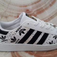Adidasi Adidas Superstar Dama Barbati LOGO - Adidasi barbati, Marime: 36, 38, 39, Culoare: Alb, Piele sintetica