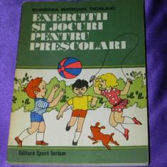 Exercitii si jocuri pentru prescolari - Eugenia Barcan Ticaliuc (f3085 - Carte sport
