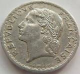 Moneda 5 Franci - FRANTA, anul 1949 *cod 3829 Allu.
