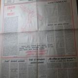 Ziarul dreptatea 6 aprilie 1991-nr. cu ocazia zilei de paste