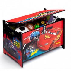 Ladita din lemn pentru depozitare jucarii Disney Lightning McQueen - Sistem depozitare jucarii