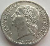 Moneda 5 Franci - FRANTA, anul 1949 *cod 3830 Allu.-xF+