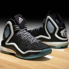 Adidasi originali ADIDAS Derrick Rose BOOST 5, ghete basket, jordan, nike air, - Ghete barbati Adidas, Marime: 44, Culoare: Negru
