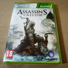 Assassin's Creed III, XBOX360, original si sigilat, alte sute de jocuri! - Jocuri Xbox 360, Actiune, 18+, Single player