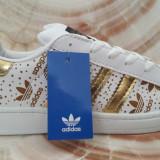 Adidasi Adidas Superstar Dama LOGO Auriu - Adidasi barbati, Marime: 36, 37, 38, 39, 40, Culoare: Din imagine, Piele sintetica