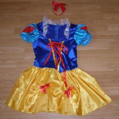 Costum carnaval serbare alba ca zapada pentru adulti marime S, Marime: Masura unica, Culoare: Din imagine