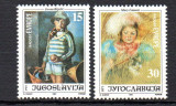 JUGOSLAVIA 1991, Arta, Pictura, serie neuzata, MNH, Iugoslavia, Nestampilat