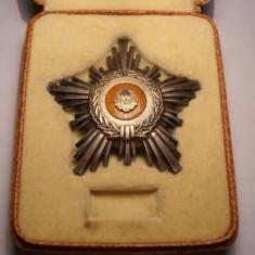 Ordinul Steaua Romaniei RSR Clasa a 5 a de ARGINT Marcata la Cutie