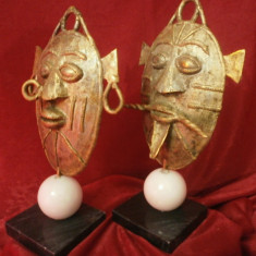 Statuete sculptura bronz, marmura, stil brutalist modernist etnic, tribal