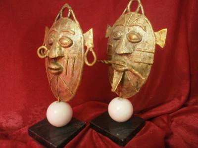 Statuete sculptura bronz, marmura, stil brutalist modernist etnic, tribal foto