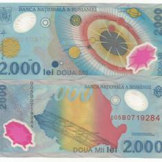 ROMANIA 2000 2.000 LEI 1999 UNC UNC ECLIPSA, necirculata - din fisic - Bancnota romaneasca