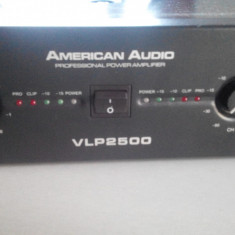 Amplificator Profesional American Audio VLP-2500 2200W. - Amplificator audio, peste 200W