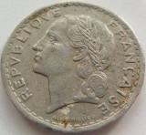 Moneda 5 Franci - FRANTA, anul 1947 *cod 3828 Allu.