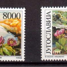 JUGOSLAVIA 1989, Flora, serie neuzata, MNH, Iugoslavia, Nestampilat