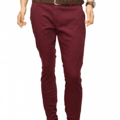 Pantaloni Slim Fit Bordo bumbac - Pantaloni barbati casual-eleganti PN20, Marime: 32, 33, 34, 36, 38, 40, Culoare: Din imagine, Lungi