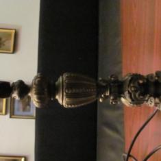 CY - Veioza veche bronz deosebita Art Nouveau perfect functionala, Veioze