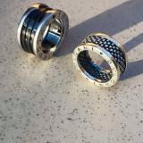 Vand inel bvlgari argint si ceramica! - Inel argint