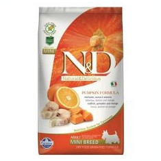 Farmina N&D GF PUMPKIN câini adulți mini, cod& portocale- 7kg - Hrana caini