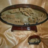 Sculpturi chinezesti in casete sticla, colectie, cadou, vintage - Sculptura