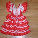 Costum carnaval serbare rochie dans pentru copii de 1 an 1-2 ani, Marime: Masura unica, Culoare: Din imagine