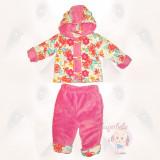 Costumas captusit -Floricele Colorate - Haine bebelusi