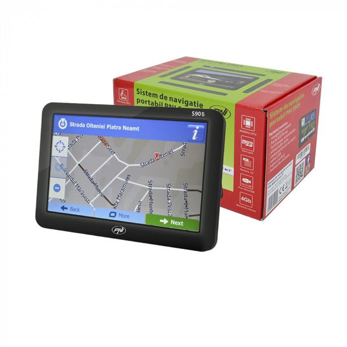 Resigilat : Sistem de navigatie portabil PNI S905 ecran 5 inch, 800 MHz, 128MB DD