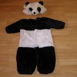 Costum carnaval serbare urs panda pentru copii de 1-2 ani, Marime: Masura unica, Culoare: Din imagine