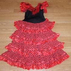 Costum carnaval serbare rochie dans pentru copii de 9-10 ani, Marime: Masura unica, Culoare: Din imagine