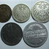 Germania (1) - 1, 5, 10, 50 Pfennig 1893-1921, Europa