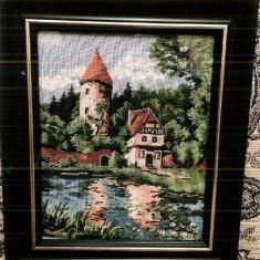 Goblen Foisorul, 18x13 cm, 21 culori, inramat