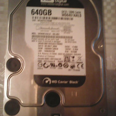 Hard-disk PC WD Black 640 GB, Sata3, 7200 rpm, 32MB, 100% health L80, 500-999 GB, SATA 3, Western Digital