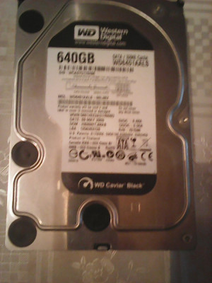 Hard-disk PC WD Black 640 GB, Sata3, 7200 rpm, 32MB, 100% health L80 foto