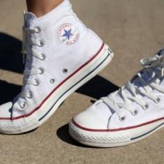 Bascheţi Converse ALL STAR albi - Tenisi barbati Converse, Marime: 36, 37, 38, 39, 40, 41, 42, 43, 44